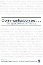 Communication as ...: Perspectives on Theory, , Acceptable Book