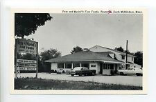 South Middleboro MA Mass Pete & Muriel's Fine Foods, cars, 1960's?