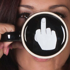 Novelty Ceramic Mug Coffee Mug Cup Have a Nice Day Middle Finger Funny Land Gift