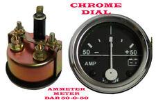 50-0-50 Amperímetro coche Van Truck 52mm Chrome Dial Gauge Universal Reloj Amperes Meter