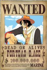 POSTER ONE PIECE PORTGAS D. ACE D TAGLIA WANTED ANIME MANGA RUFY RUBBER #2