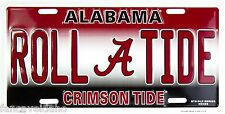NCAA University of Alabama ROLL TIDE Crimson Tide Metal Car License Plate Sign