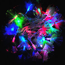 6M 28 LED Flashing Fiber Optic Flower Light String Lamp for New Year Christmas