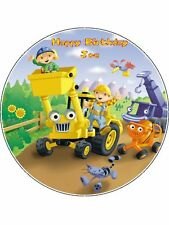 """Bob The Builder Personalised 7.5"""" Round Edible Icing Cake Topper"""