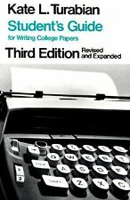 Student's Guide for Writing College Papers by Turabian, Kate L.