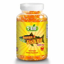 1000 mg Alaska Deep Ocean water Fish Oil Omega-3 DHA EPA Heart / Vascular Health