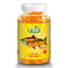 1000 mg Alaska Deep Ocean water Fish Oil Omega-3 DHA EPA Heart / Vascular Health