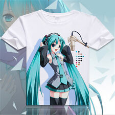 Anime Cartoon Hatsune Miku Short Sleeve Casual Costume T-shirt #0854