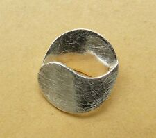 Sterling Silver Round focal Open Bead Open Center side drilled 17x19MM