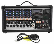Peavey Pvi8500 400 Watt 8-Channel Powered Live Sound Mixer w/ Bluetooth