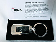 Boeing 787 New Carbon Fiber Northwest Airlines Key Chain NWA Pilot IAM A&P Jet a
