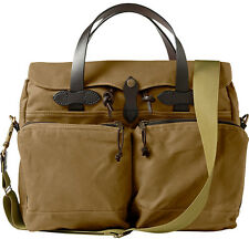 NEW! FILSON 72-HOUR BRIEFCASE- TIN CLOTH DARK TAN #70140 EXPEDITED SHIPPING!