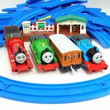 Thomas The Tank Engine Trains & Track Trackmaster Blue Bride Station 54 Pieces