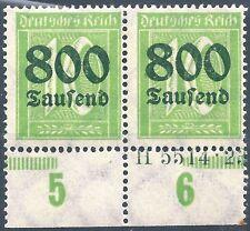 Ziffer im Rechteck MiNr. 302 im Paar mit HAN 5514.23 postfrisch