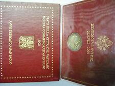 VATICANO 2008 MONETA 2 EURO COMMEMORATIVO FDC ANNO PAOLINO FOLDER UFFICIALE OR.