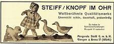 1925 Steiff Puppe Hund Vögel Knopf im Ohr 14x6 cm original Printwerbung