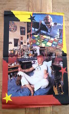 CAPTAIN SENSIBLE (Damned) 'big head' 2-sided Centerfold  POSTER 17x11 inches