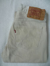 LEVI'S 501 COLOURED JEANS STRAIGHT LEG W32 L32 STRAUSS BEIGE LEVF890