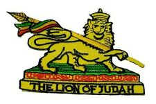 "(L) THE LION OF JUDAH 3.5"" x 2.75"" iron on patch (AF68) Bob Marley"