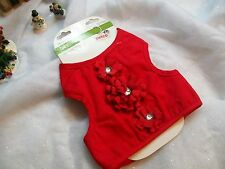 FANCY RED Tank VEST Cat Small Dog clothes One Size Petco kitty Christmas holiday