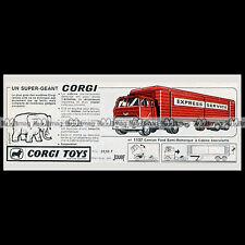 CORGI TOYS 1965 FORD TILT Cab H  (1137) - Pub / Publicité / Ad #E98