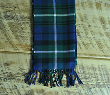 Mens Ladies Navy Checkered Super Super Soft Brushed Acrylic Scarf/Shawl/throw