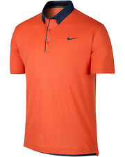 NIKE Golf Men's Size XL Transition Chambray Polo Orange