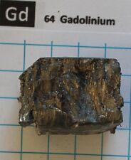 157,02 gram 99,9% Gadolinium Metal Nugget #12  - Pure Element 64 sample