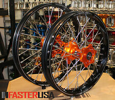 KTM MOTOCROSS WHEELS KTM400EXC MXC 00-02 SET EXCEL A60 RIMS FASTER USA HUBS NEW