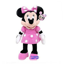 "MINNIE MOUSE CLUBHOUSE MINNIE MOUSE PLUSH DISNEY 15"" PINK DRESS New Stuffed Toy"