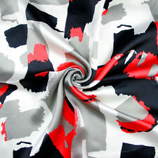 fashion Black Red Grey pattern Faux Silk square scarf SJ36