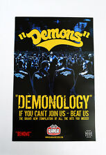 Demons Demonology promo poster warriors 11in x 7in full color punk rock