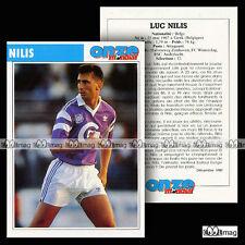 NILIS LUC (FC WINTERSLAG, RSC ANDERLECHT) - Fiche Football / Voetbal 1990