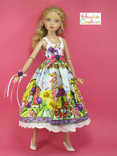 "HUMMING BIRD HOUSE DOLL DRESS FITS 13"" ELLOWYNE WILDE TONNER HANKIE COUTURE!!"