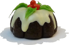 Dollhouse Miniature Holiday Plum Pudding Cake by Bright deLights