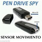 PENDRIVE USB CAMARA ESPIA OCULTA VIDEOS SENSOR MOVIMIENTO FOTOS 720* 480