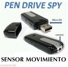 2 X PENDRIVE USB CAMARA ESPIA OCULTA  VIDEOS SENSOR MOVIMIENTO FOTOS 720* 480