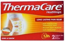 Heatwraps Long Lasting Pain Relief for Knee & Elbow (Pack of 6) by Thermacare