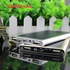 New 300000mAh Dual USB Portable Solar Battery Charger Solar Power Bank For Phone