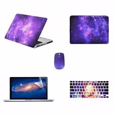 "5 IN 1Macbook Pro 13"" A1278 Purple Galaxy Case+ Keyboard Cover + LCD+ Bag+ Mouse"