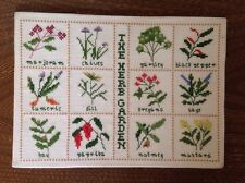 Finished CROSS STITCH The Herb Garden Handmade Sampler completed