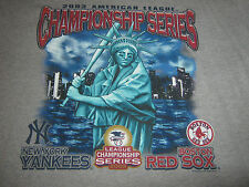 2003 ALCS ORIGINAL SHIRT YANKEES VS BOSTON**XL**SUPER RARE**GAME 7**