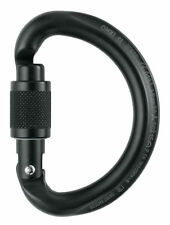 LOCKING SEMI-CIRCLE CARABINER MOSCHETTONE OMNI SCREW LOCK PETZL nero