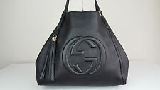 NEW $2150 Authentic Gucci Soho Leather Medium Handbag Black Shoulder Bag