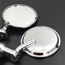 Motorcycle 1 inch Bar End Mirrors For HONDA Kawasaki SUZUKI Yamaha Ducati chrome