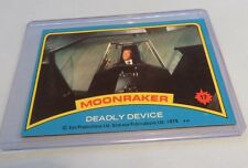 VINTAGE 1979 James Bond 007 Moonraker Topps NM CARD #17 DEADLY DEVICE
