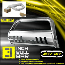BULL BAR W/SKID PLATE BRUSH PUSH GRILLE GUARDS FIT 01-07 Chevy Silverado 1500HD
