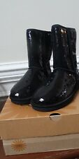 NIB UGG Australia Sparkle Classic Short Womens Boots Shoes Black Sequins Sz 7