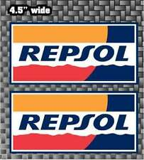 "REPSOL Stickers 4.5"" CBR,RC31 DECALS Logos2x graphics FREE SHIP"