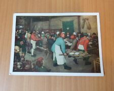 VINTAGE UNUSED POSTCARD-PIETER BRUEGEL THE ELDER(1525-1569)-PEASANT WEDDING,OIL